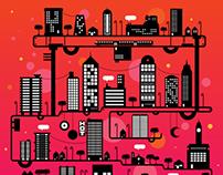 Flat city illustrations