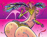 Rainha de bateria - Samba