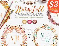 8 Barn Fall Wedding Monograms VII