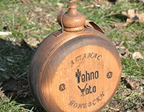 Wooden flask for sheet metal manufacture boss