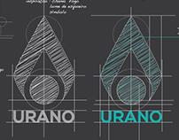 Urano (company) logo study.
