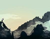 Misty Mountain | Digital Art
