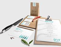 Visual identity for D\V restaurant