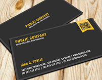 Elegant Corporate QR-Code Business Card