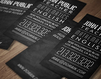 Teachers & Tutors Chalkboard Business Card