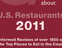 OpinionatedAbout U.S. Restaurants—ads for book