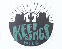 KEEP BANGS WILD Kit Logo