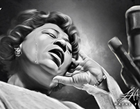 Ella Fitzgerald Digital Art by Wayne Flint
