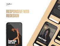 Responsive Mobile Design UI | Yoga Fitness Studio