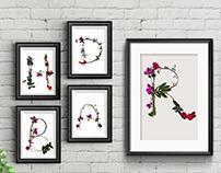 Tipografia - Casa das flores