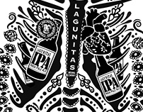 Lagunitas Dia de los Muertos Tshirt Art