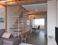 Duplex - 3.30 x 11.00m, Refurbishment, Interior design
