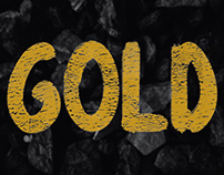 Gold - Free Bold Hand Drawn Font