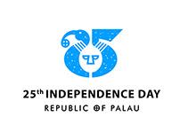 Palau 25th independence day 帛琉25週年獨立紀念日識別設計