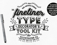 The Fineliner Type Decorator's Tool Kit