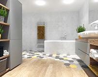 #hexagon #bathroom