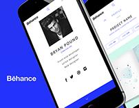 Behance App UI Concept