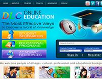 Website Design - DLC Online Education