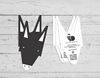 Tarjetas de visita para la agencia Flying Donkey