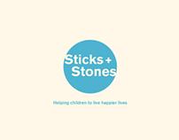 Sticks + Stones Anti bullying Workshops App Design