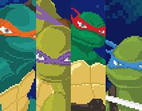 Poster TMNT Pixel Art
