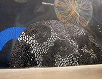 """Mural in meeting room """"Cosmos"""""""