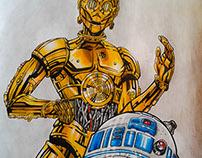 C3PO e R2-D2