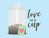 Love in a Cup Tea Illustration