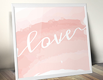Watercolour Love Art Print