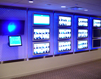 Pfizer Interactive LED Wall with Touch Screen Kiosk
