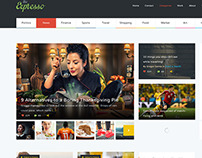 Expresso - A Modern Magazine and Blog PSD Template