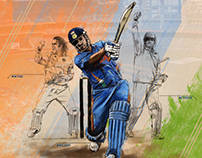 Illustration - MS Dhoni