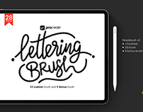 Free Procreate Lettering Nine6brush Ver. 2