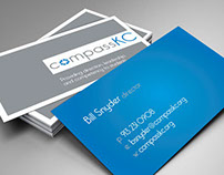 compassKC // business card & brochure