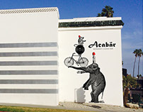ACABAR wall graphics/Sunset Blvd.