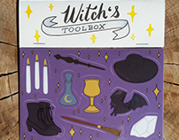 Witch's Toolbox Sticker Sheet
