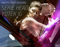 Raquettes de Tennis - série HEAD