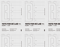 """VOTE FOR DELAB"" Poster"