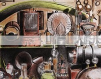 Steam Punk Wall Graffiti