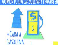 """Case - Infográfico cartonagem """"Aumento da gasolina?"""""""