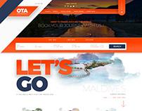 OTA online Travel Agency Website