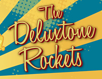 The Deluxtone Rockets gig poster