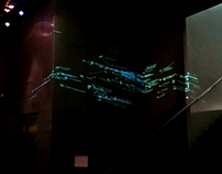 People are data - Projection Mapping, CCA Glasgow