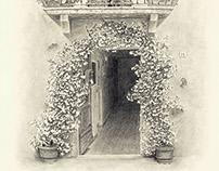 Pienza Italy Door - Arch