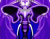 Purple Crown Chakra Elephant