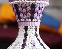 Purple Vase (Quilling)
