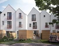 City houses Netherlands CGI