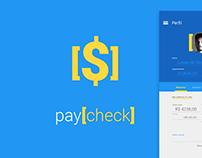 Paycheck App Prototype