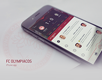 iPhone app for the football (soccer) club FC Olympiacos