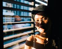 Portrait of Annie in sundown